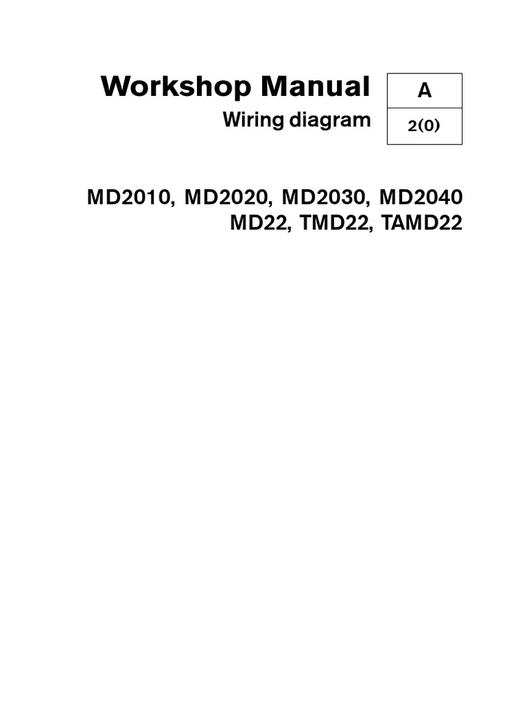 Volvo MD22 Wiring Diagrams.pdf | Electrical Connector | Electrical Wiring | Volvo Md22 Wiring Diagram |  | Scribd