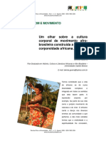 CORPO, SOM E MOVIMENTO. Um Olhar Sobre a Cultura Corporal de Movimento Afro Brasileiro
