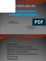 Land Subsidence due to groundwater withdrawal