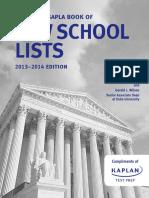 2013 NAPLA SAPLA Book of Law School Lists