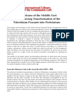 The Agonising Transformation of the Palestinian Peasants into Proletarians