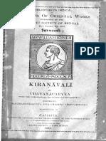Kiranavali of Udayana, fasc. 2