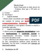 [Penal] 01.01. Conceito, Finalidades, Fontes e Interpret Do DP