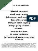 Program Orientasi Tahun Satu 2015