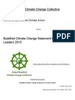 Buddhist Climate Change Statement to World Leaders 2015