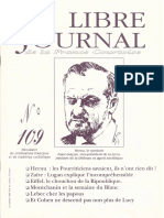 Libre Journal de la France Courtoise N°109