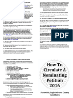How to Circulate No m Petition State Leg County Candidates