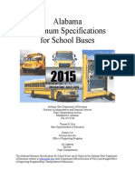 Alabama Minimum Specifications for School Buses 2015