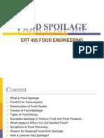 Food Spoilage