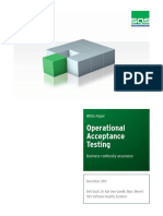 White Paper Operational Acceptance Testing En
