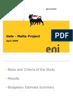 Gela-Malta (Cost Estimate) Rev 2 3