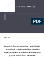 Dermatitis Foto Kontak Slide
