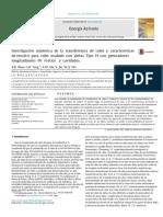 Investigación numérica de la transferencia de calor y características