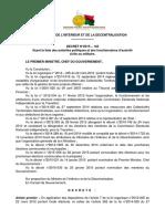 Décret n° 2015-142 fixant la liste des autorités politiques et des fonctionnaires d'autorité civile ou militaire
