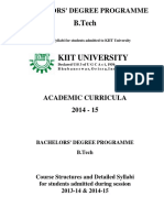 B.Tech Syllabus 2014-15