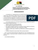 Loi n° 2012-004 sur la CENI-T