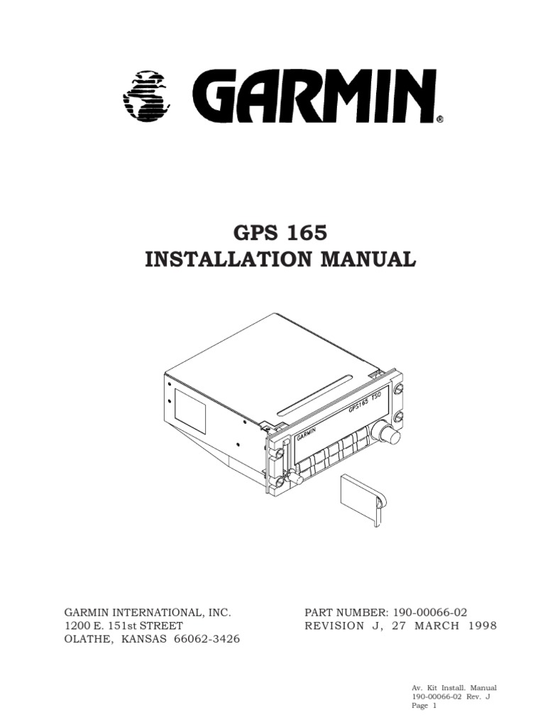 Garmin Gps 165 Installation Manual Electrical Connector Global Fuel Wiring Diagram Positioning System