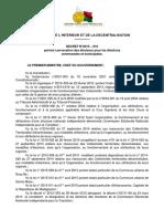 Décret n° 2015-616 portant convocation des électeurs pour les élections
