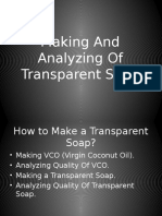 VCO and Transfarent Soap