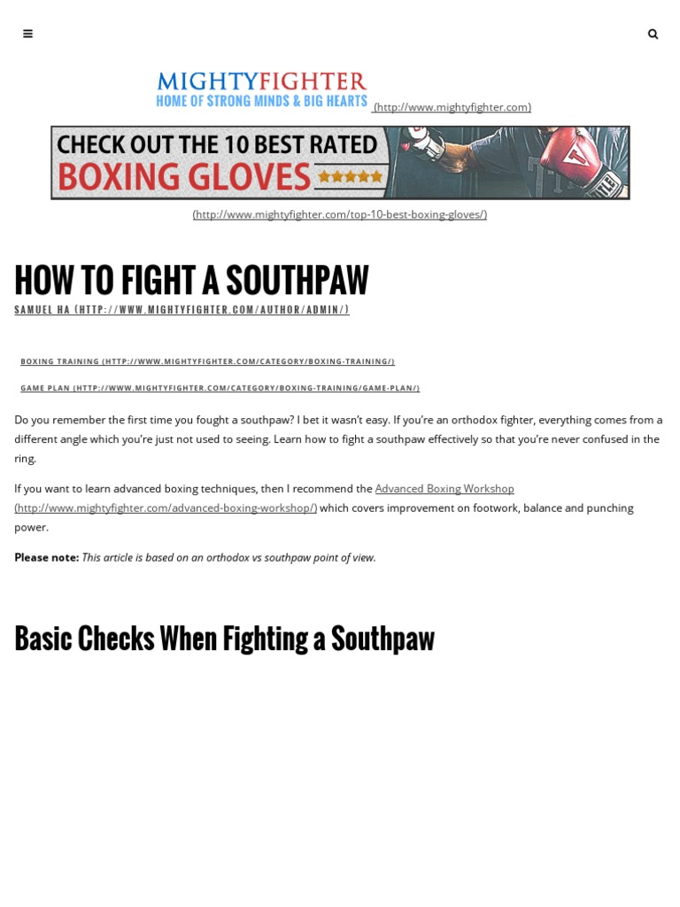 Boxing Masterclass - How to Fight a Southpaw | Combat Sports