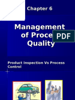 Chapter 6, Management of Process Quality