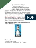 Disney Frozen Olaf Crochet Pattern CMH