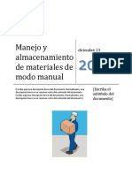 Manejo de Materiales de Modo Manual