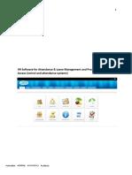 Brochure for Hrm software