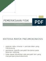 Px Fisik Pneumoconiosis