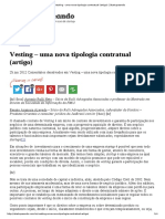 Vesting - Uma Nova Tipologia Contratual (Artigo) _ Startupeando