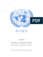disec - occupation of disputed territories - study guide