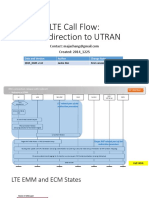 LTE Call Flow - PS Redirection to UTRAN-V2015 0105-V1.0