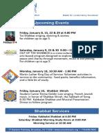 January 2016 Events
