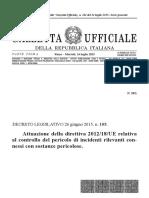 Seveso 3 - Decreto Legislativo 26 Giugno 2015, n. 105