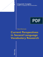 (Linguistic Insights., Studies in Language and Communication _, V.155.) David Hirsh-Current Perspectives in Second Language Vocabulary Research-Bern _ New York _ Peter Lang (2012)