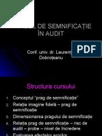 Audit- Pragul de Semnificaţie