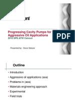 Presentacion - Progressing Cavity Pumps for Aggressive Oil Applications 2010 SPE ATW Cancun