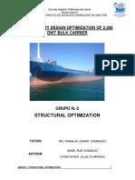estructura de una embarcación granelera