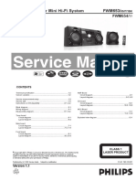 Philips FWM654 Service Manual, Repair Schematics, Online Download