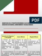BENEFICIOS DE LA TRIBUTACIÓN MINERA A LAS COMUNIDADES 1.pptx