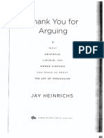 Heinrichs Thank You for arguing Appendices