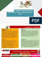 Normas y Orientaciones para el desarrollo del año escolar - 2016