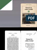 156577485 Blecua Alberto Manual de Critica Textual 2 Copia