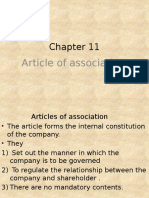 ACCA F4 Chapter 11 Artilces of Incorportaion