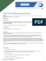 Association Between Diabetes Mellitus and Osteoarthritis_ Systematic Literature Review and Meta-Analysis -- Louati Et Al