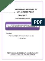 Responsabilidad Social y Ambiental Para Los Negocios