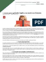 7 Trucos Para Aprender Inglés y No Morir en El Intento