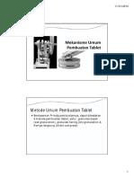 Metode Umum Pembuatan Tablet