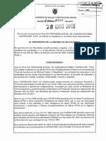 Decreto 2519 Del 28 de Diciembre de 2015