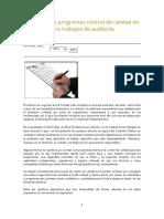 Control de Calidad en Firmas Auditoras